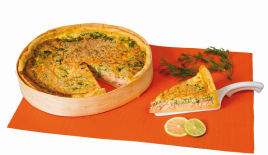 Quiche saumon épinards 2.9kg