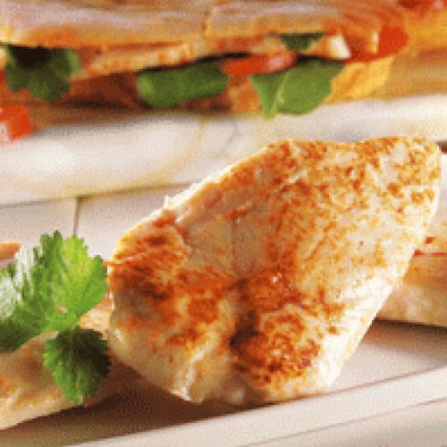 Filet de poulet rôti cuit entier sans peau 110/140G