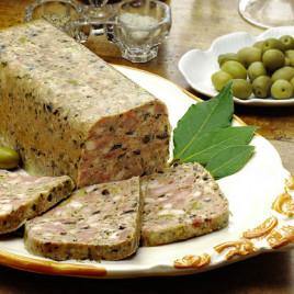 Terrine de lapin aux olives (rougié)